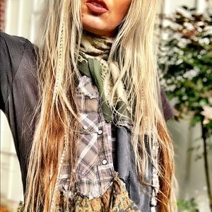 RESERVED ♥️ She's a BEAUTIFUL mess Tattered Scarf
